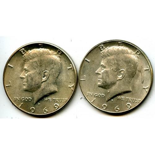 1969d Chbu Kennedy Half Dollars 40% Silver