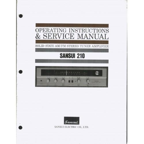 Sansui Model 210 Receiver Service Manual