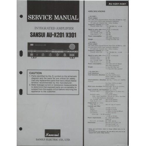 Sansui AU-X201/301 Amplifer Service Manual