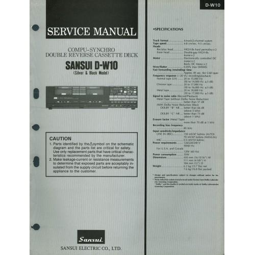 Sansui D-W10 Cassette Deck Service Manual