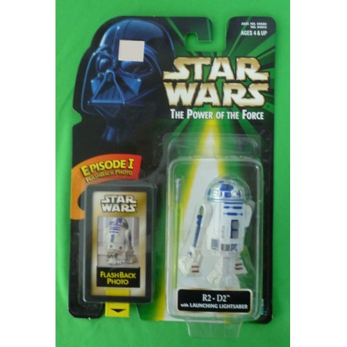 Star Wars Power of the Force  R2-D2 with Launching Lightsaber