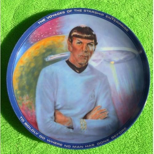 Mr Spock Blue Border Star Trek Plate
