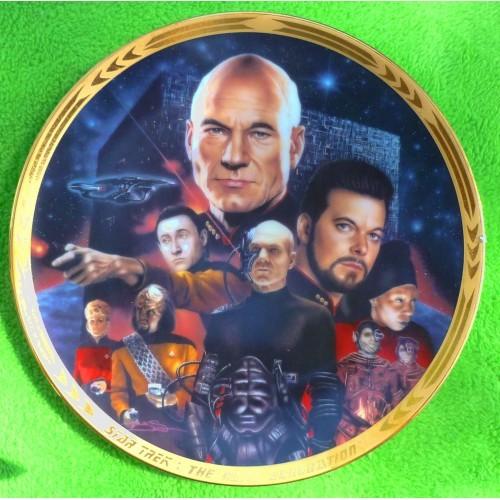 Star Trek The Next Generation Best of Both Worlds Plate