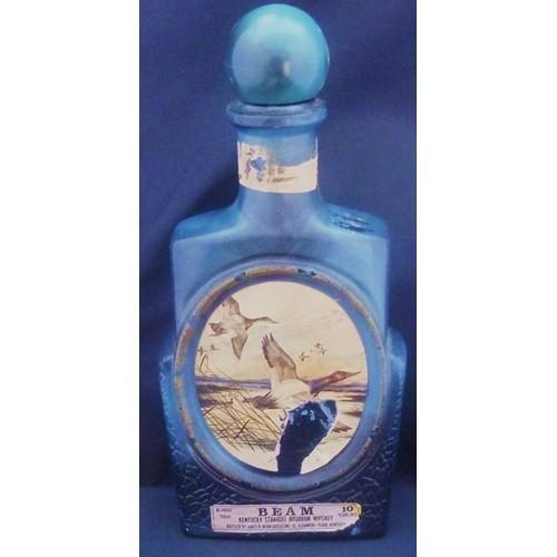 Blue Flying Geese Jim Beam Wiskey Decanter