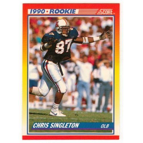 1990 score Chris Singleton Rookie Card 290 - LN