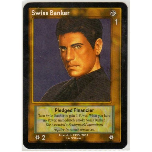 ShadowFist / NetherWorld 2 Game Card: Swiss Banker