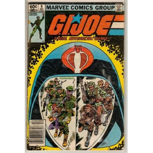 1982 G.I. Joe a real American Hero  Comic # 6 – VG