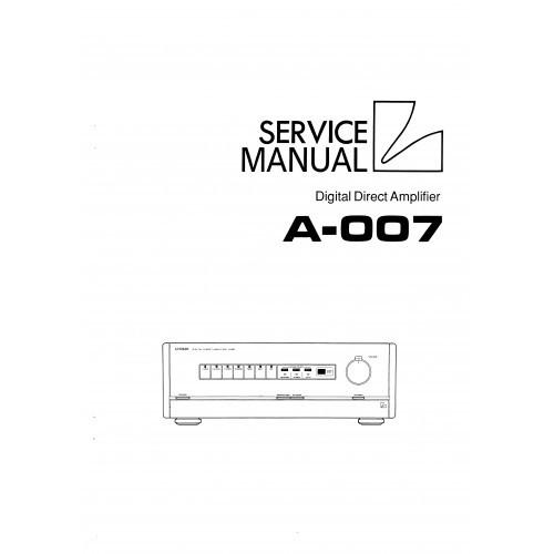 Luxman A-007 Amplifier Service Manual