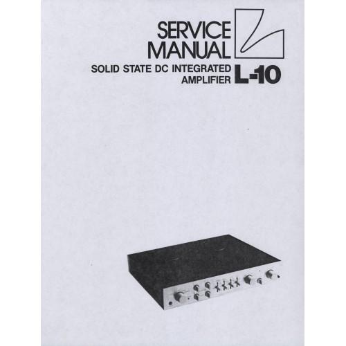 Luxman L-10 Amplifier Service Manual