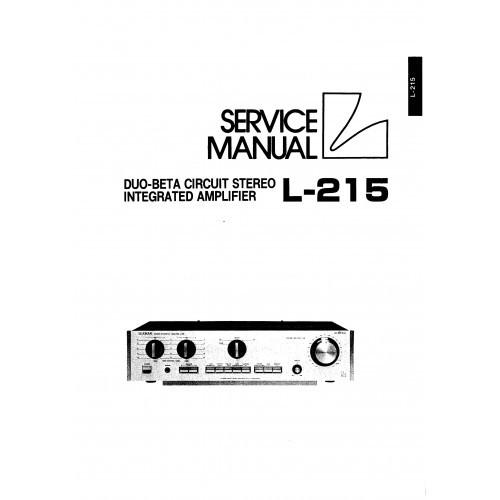 Luxman L-215 Amplifier Service Manual