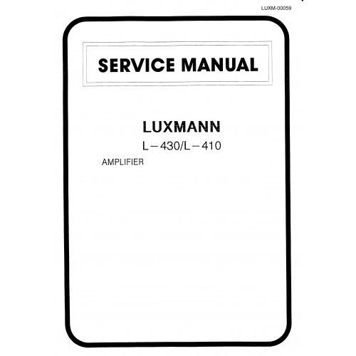 Luxman L-430/L-410 Amplifier Service Manual