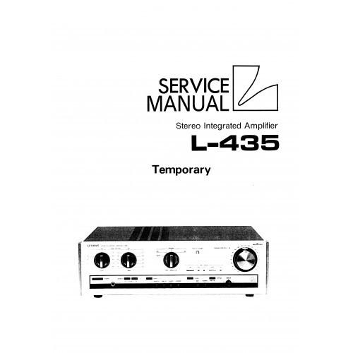 Luxman L-435 Amplifier Service Manual