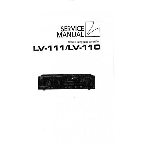 Luxman LV-111/110 Amplifier Service Manual