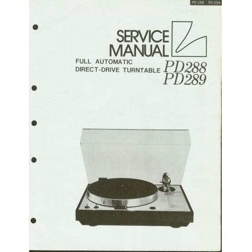 Luxman PD-288/289 Turntable Service Manual