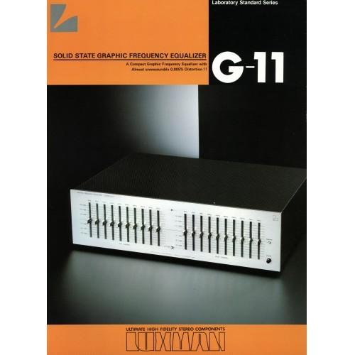 Luxman G-11 Equalizer Sales Brochure