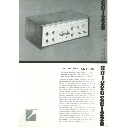 Luxman SQ1220 Amplifier Sales Brochure