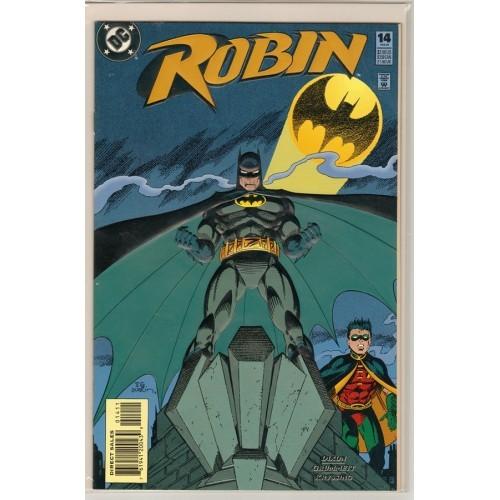 1995 Variant Enhanced Card Stock Cover Robin Comic # 14 - NM