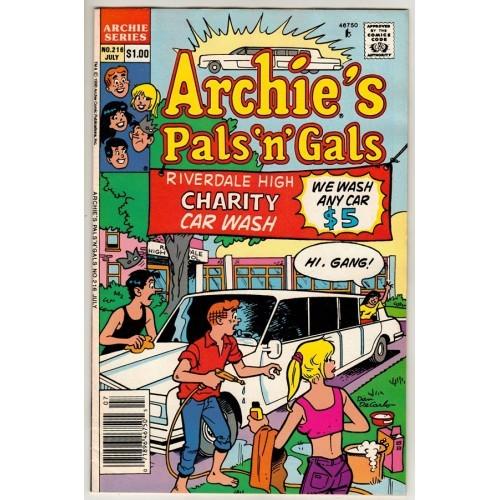 1990 Archie's Pals 'n' Gals Comic # 216 – FN