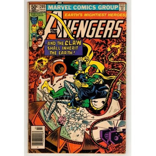 1981 The Avengers Comic # 205 – Vg