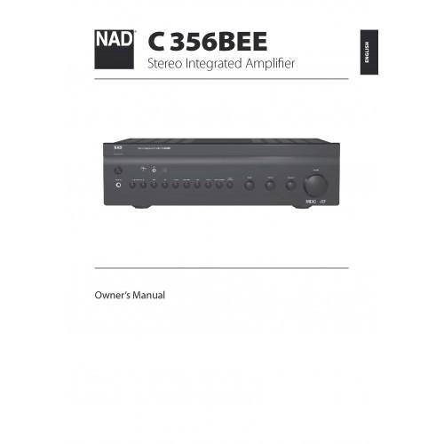 NAD Model C356BEE Amplifier Owners Manual