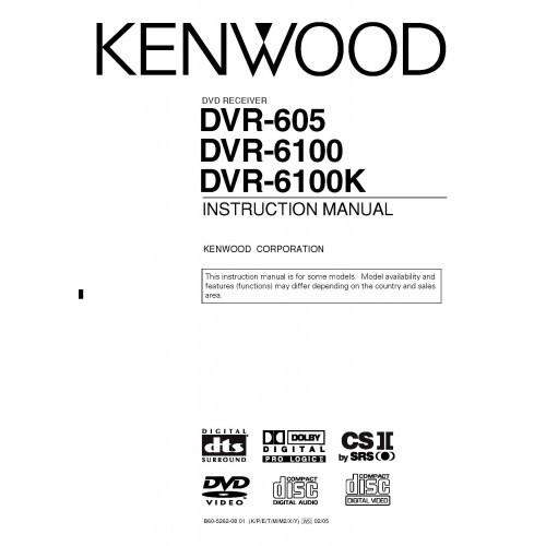 Kenwood DVR-605/6100/6100K Receiver Owners Manual