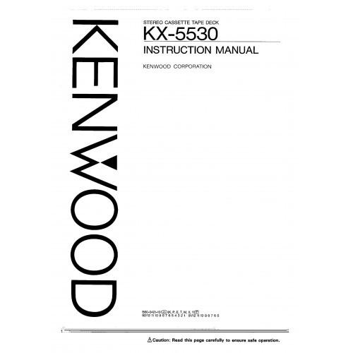Kenwood KX-5530 Cassette Deck Owners Manual