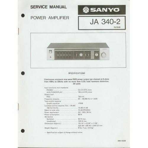 Sanyo JA-340-2 Amplifier Service Manual