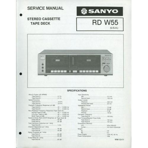 Sanyo RD-W55 Cassette Deck Service Manual