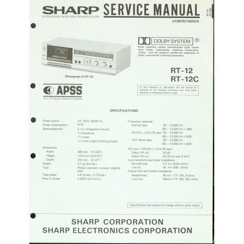 Sharp RT-12/12C Cassette Deck Service Manual