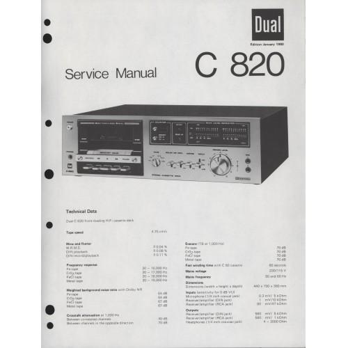 Dual C 820 Cassette Deck Service Manual