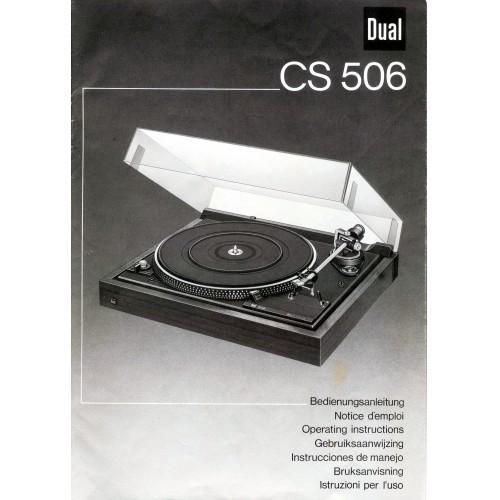Dual CS 506 Turntable Owners Manual