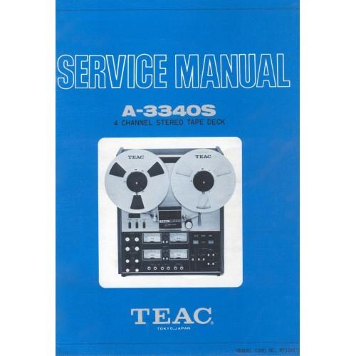 TEAC A-3340S Reel Deck Service Manual
