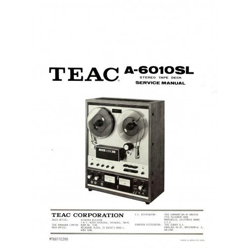 TEAC A-6010SL Reel Deck Service Manual