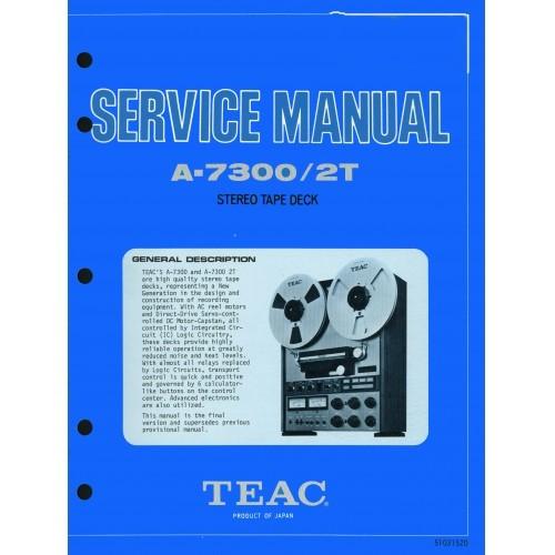 TEAC A-7300/2T Reel Deck Service Manual
