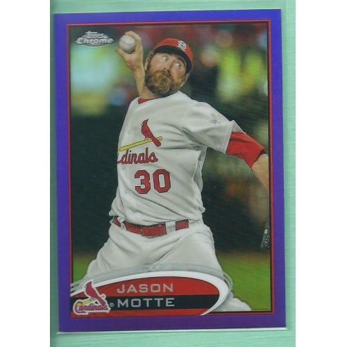 2012 Topps Chrome Purple Refractors #88 JASON MOTTE Cardinals baseball