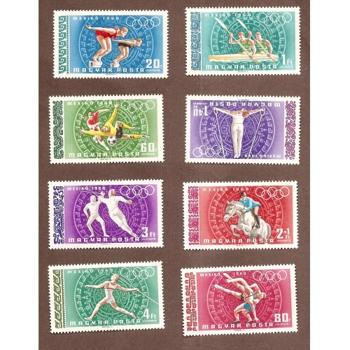 HUNGARY 1968 (OLYMPIC GAMES IN MEXICO0 MINT NH NICE!!!  M-858