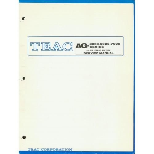 TEAC AG-3000/6000/7000 Receiver Service Manual