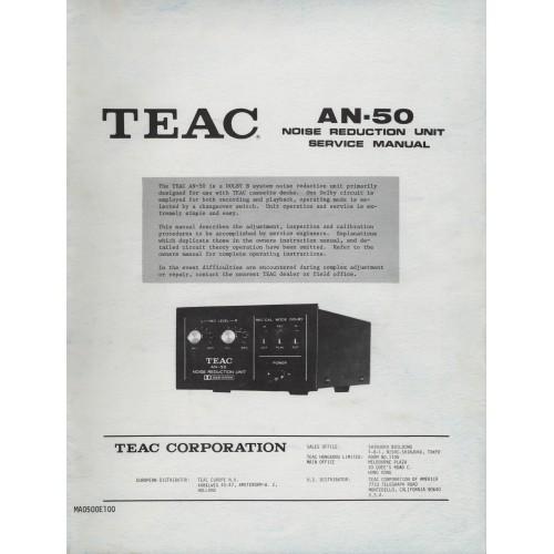 TEAC AN-50 Noise Reduction Unit Service Manual