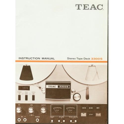 Teac - Model 3300S Reel Deck Owners Manual