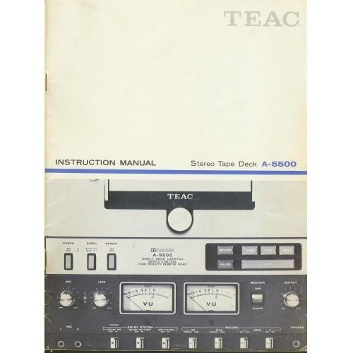 Teac - Model A-5500 Reel Deck Owners Manual