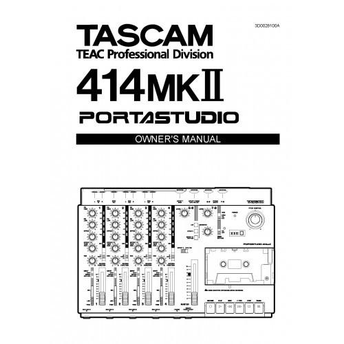 Teac - Tascam 414 MKII Portastudio Owners Manual