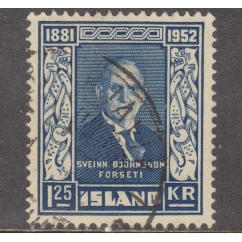 USED ICELAND #274 (1952)