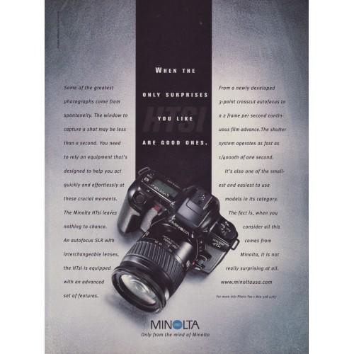 Minolta - Maxxum HTsi Camera Magazine Ad