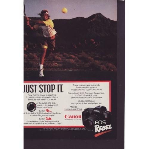 Canon EOS Rebel Camera Magazine Ad