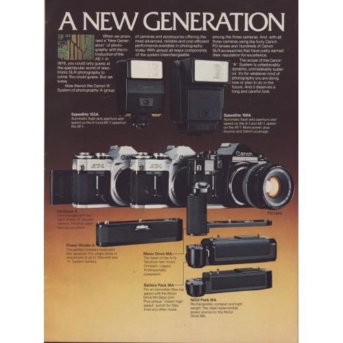Canon -  A-Series Camera Magazine Ad