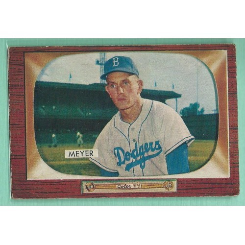 1955 Bowman #196 RUSS MEYER Brooklyn Dodgers Vintage Baseball