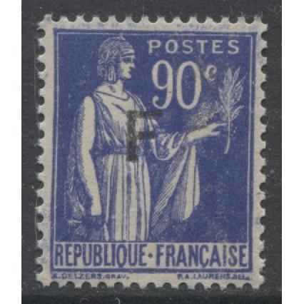 1939  FRANCE  90 c. Francise stamp  mint*,  Scott # S1