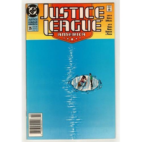 1990 Justice League America Comic # 35 – FN+