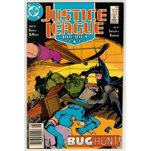 1989 Justice League America Comic # 26 – VF
