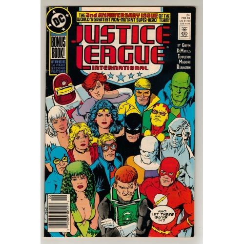 1989 Justice League International Comic # 24 – FN+